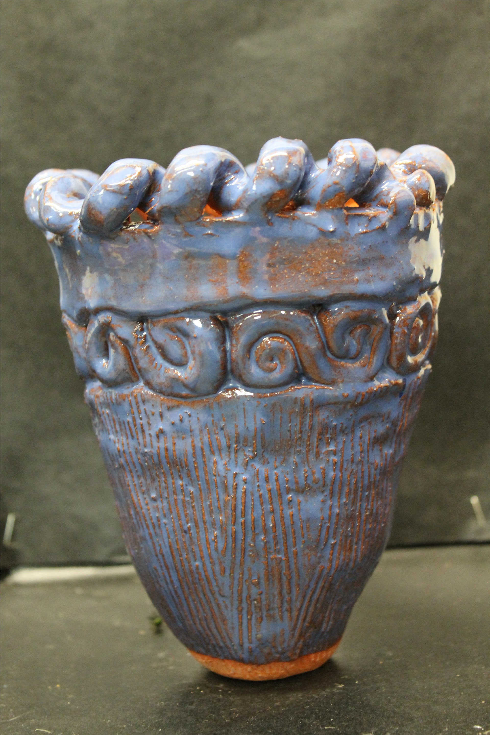 Ancient Jomon Inspired vase for 8th Grade Art
